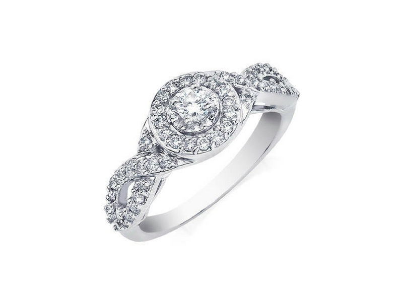 Diamond Engagement Ring .48ctw 14K White Gold by Camelot