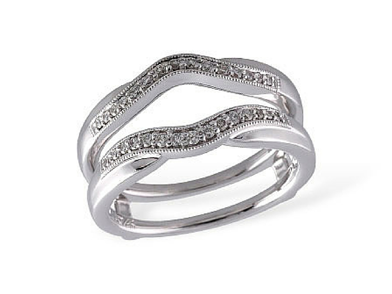 Diamond Ring Wrap .19ctw 14K White Gold by Allison Kaufman