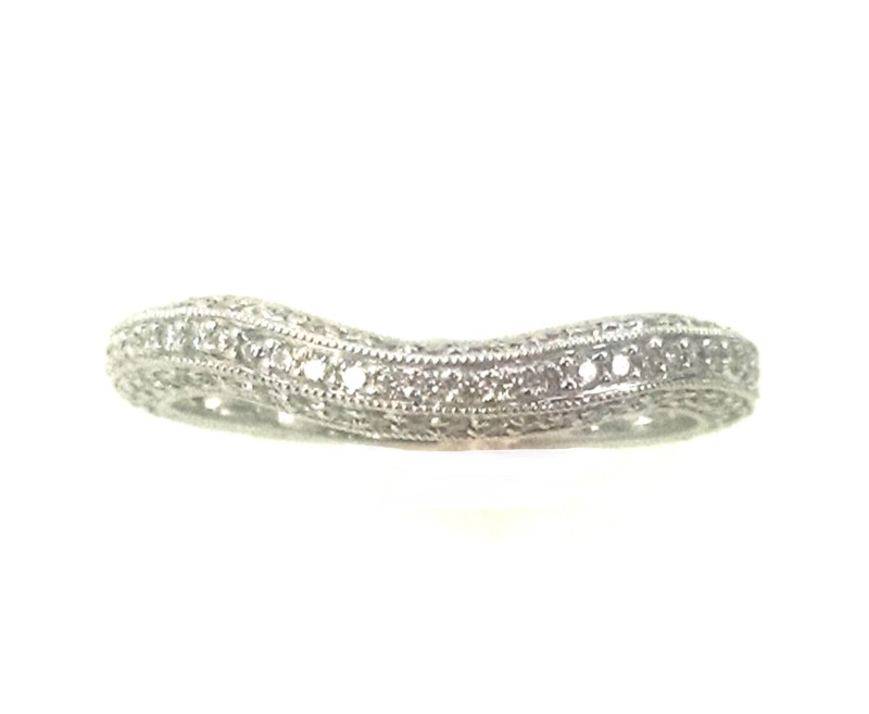 Kirk Kara Curved Diamond Band Ring .52ctw 18K White Gold by Kirk Kara
