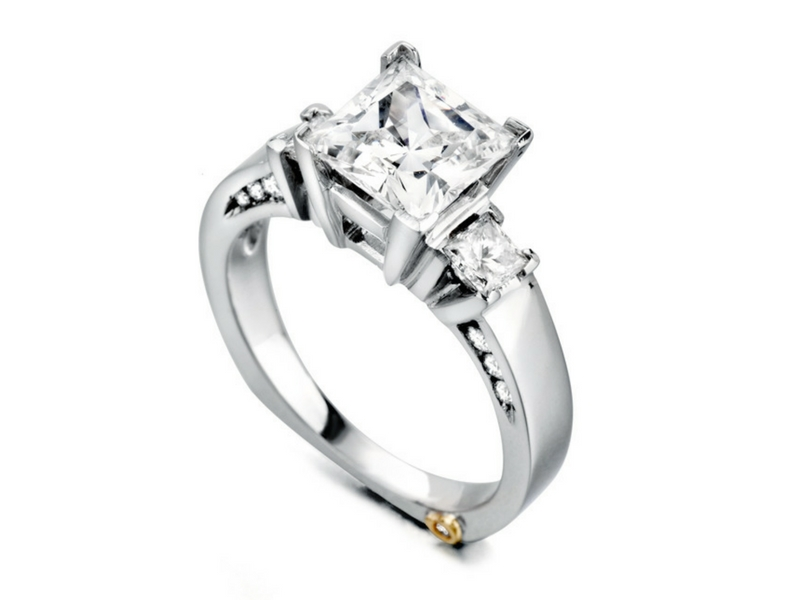 14K White Gold Diamond Semi-Mount by Mark Schneider
