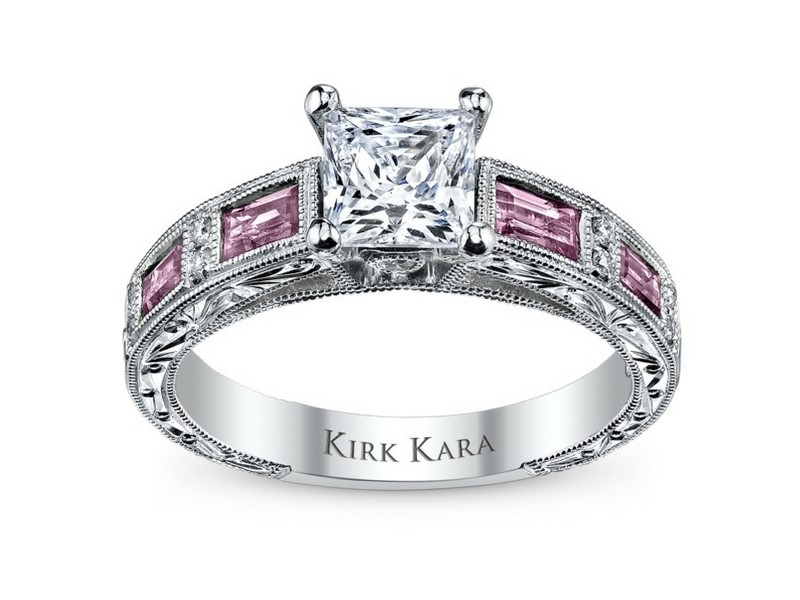Semi-Mount 18k white gold Kirk Kara designer setting by Kirk Kara