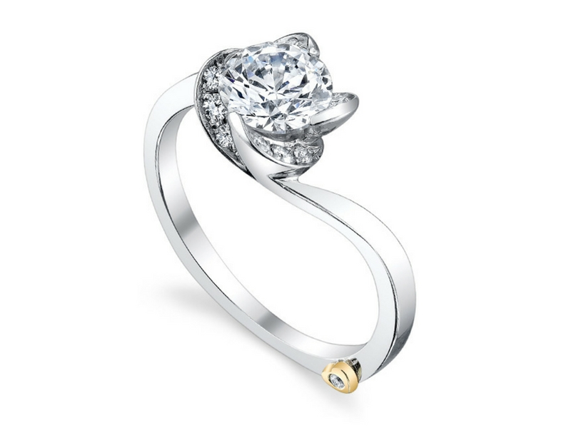 Mark Schneider Diamond Rose Semi-Mounting .14ctw 14K White Gold by Mark Schneider