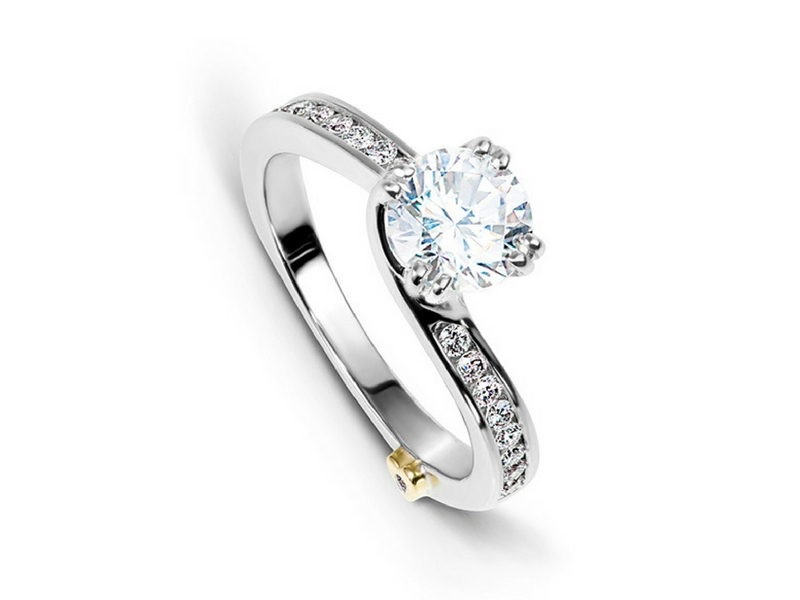 Mark Schneider Glimmer Diamond Semi-Mounting .25ctw 14K White Gold by Mark Schneider