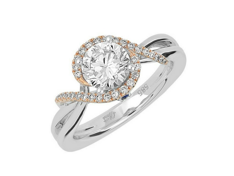 14K Eternal Flame Diamond Engagement Ring by Chatham
