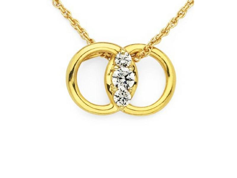 Diamond Marriage Symbol 33ctw 14k Yellow Gold