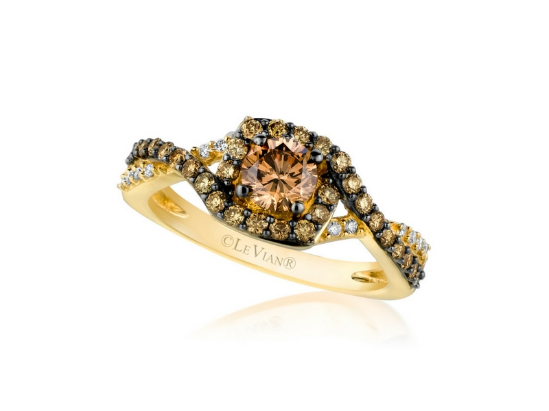 LeVian 14K Yellow Gold Chocolate Diamond Ring by Le Vian