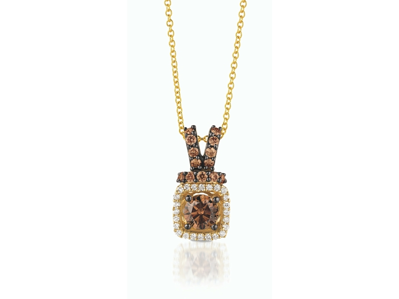 LeVian 14K Yellow Gold Chocolate Diamond Pendant by Le Vian