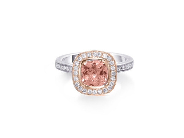 14K Gold Morganite & Diamond Ring by Frederic Sage