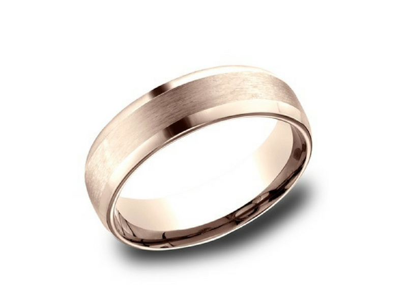 14K Rose Gold 6.5mm Wedding Band by Benchmark