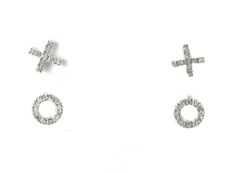 Sterling Silver Hugs & Kisses Cioro Earrings by Secure Hoop