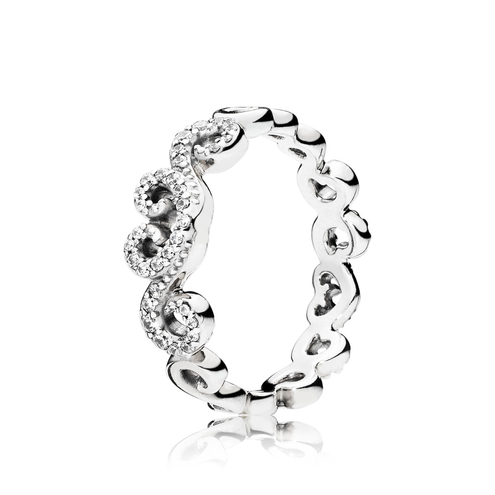 Heart Swirls Ring by Pandora