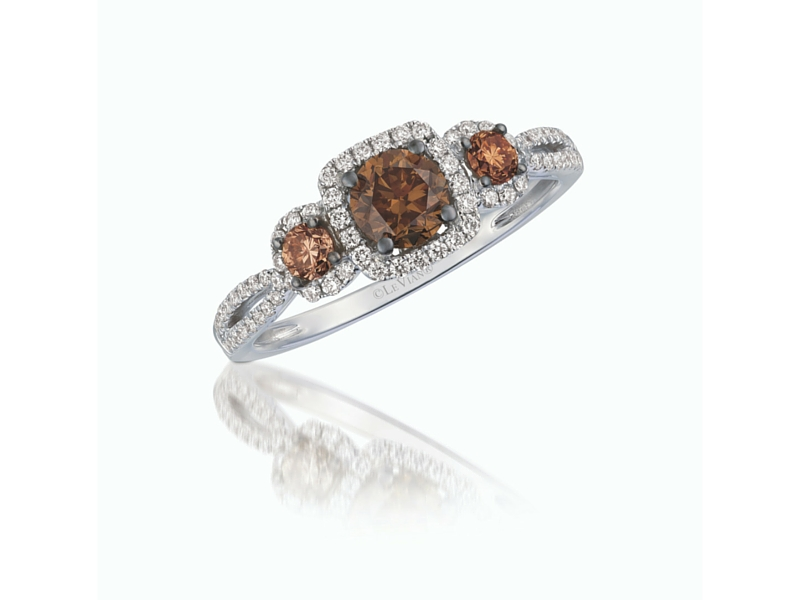 LeVian 14K White Gold Chocolate Diamond Ring by Le Vian