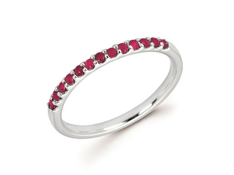 10K Gold Ruby Band Ring by Ostbye